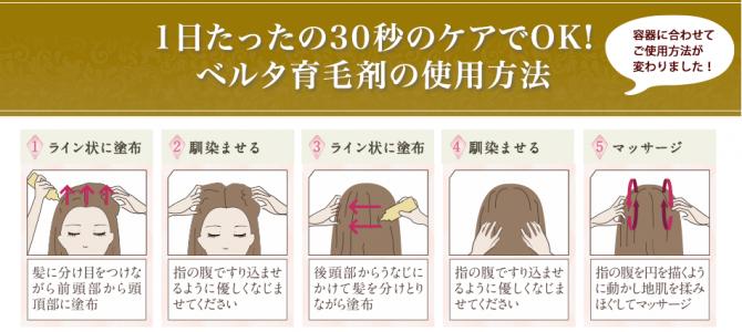 ベルタ育毛剤の使い方